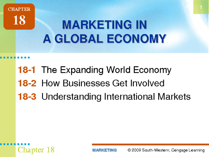 Marketing In A Global Economy