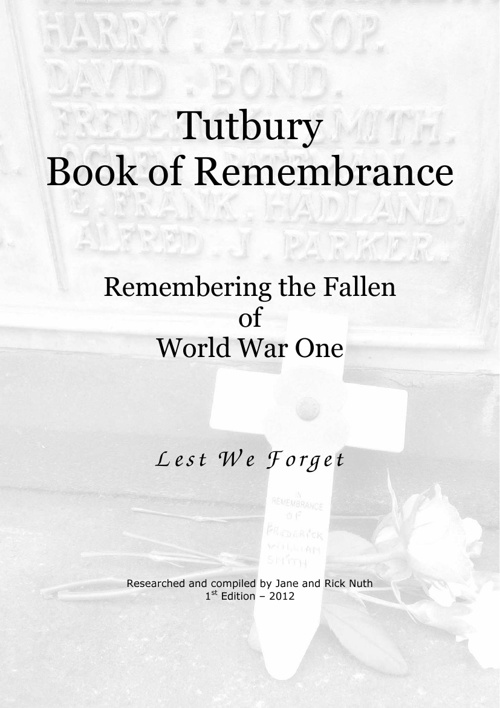 Tutbury Book of Remembrance