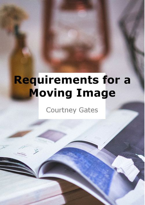 Requirements for a Moving Image Production