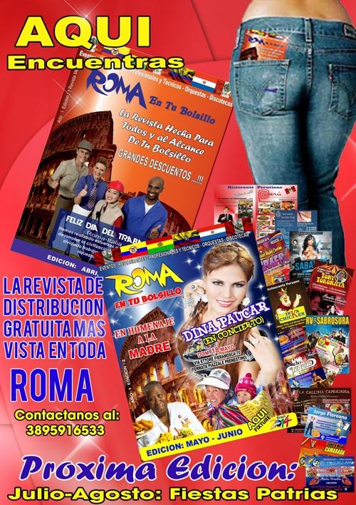 "Revista ""ROMA EN TU BOLSILLO"""