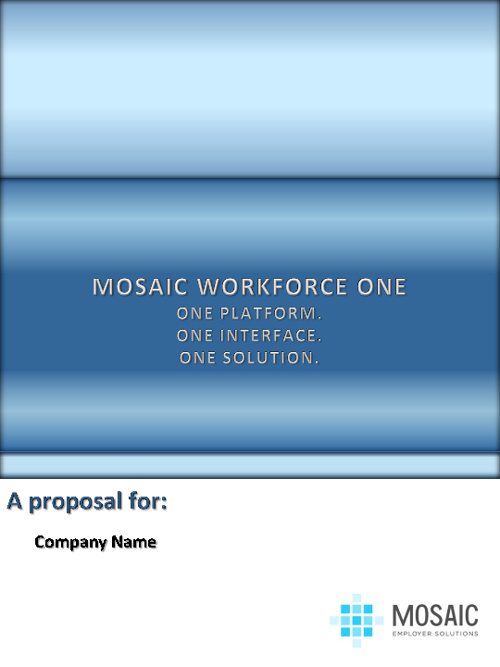 Mosaic Services Proposal