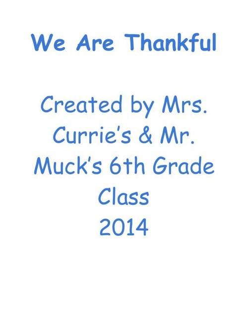 Thankful - Google Docs