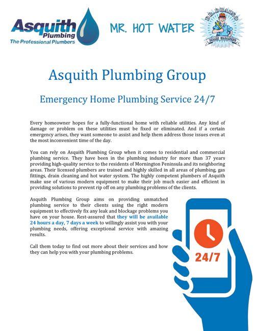 Asquith Plumbing Group: Emergency Home Plumbing Service 24/7