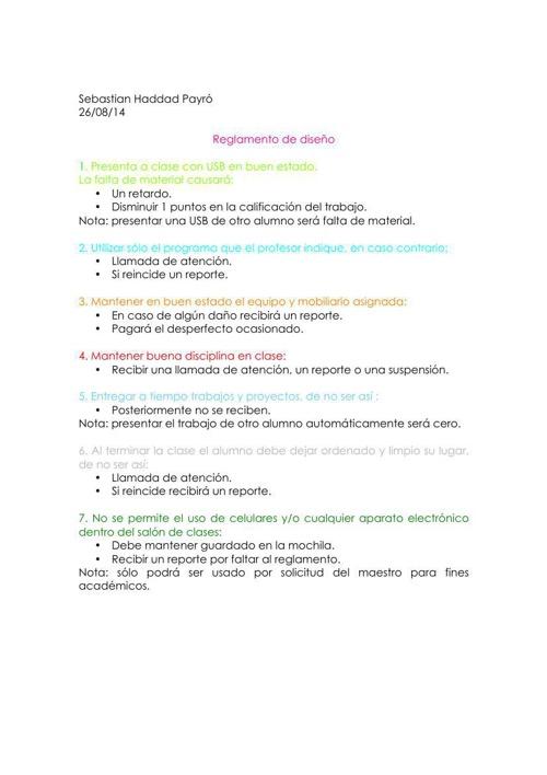 reglamento de diseño