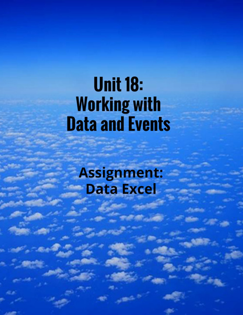 Unit 18: Working with Data and Events