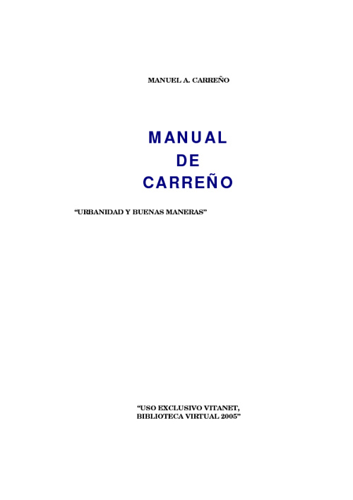 manual de carreño