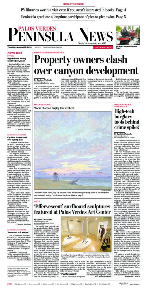 Peninsula News | August 18, 2016