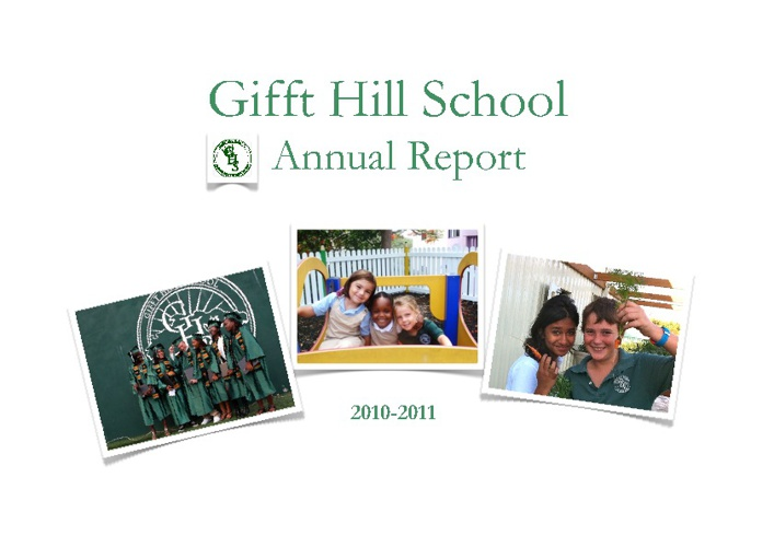 GHS 2010-2011 Annual Report DRAFT