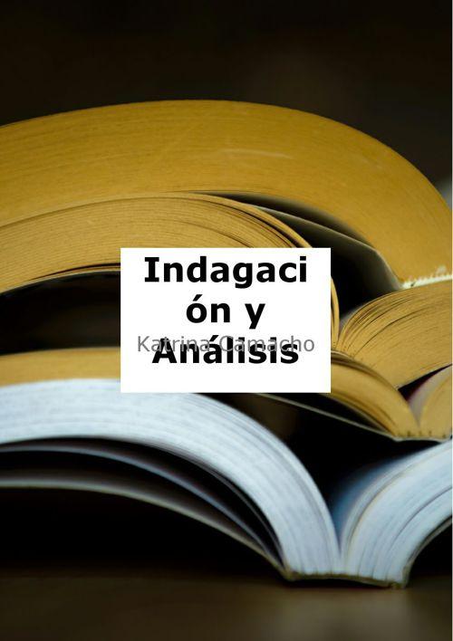 indagacion y analisis