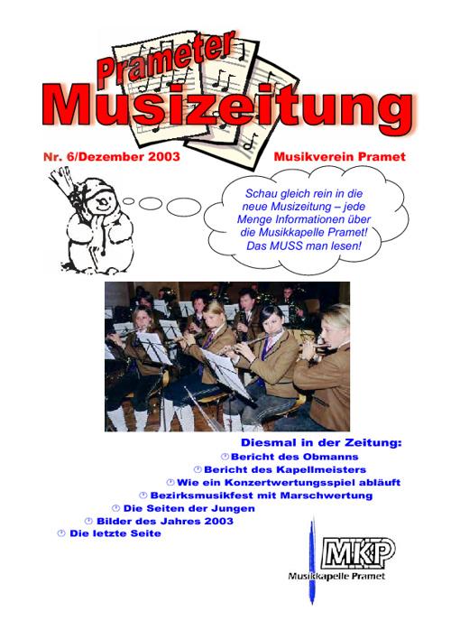 Musizeitung 2003