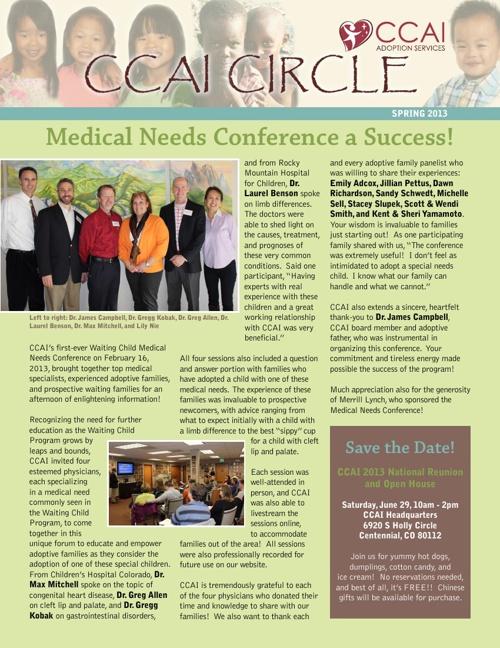 CCAI Circle Spring 2013
