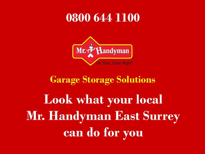 Garage Storage Solutions - Mr Handyman