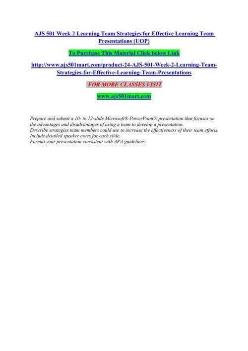 AJS 501 MART Learning for leading/ajs501martdotcom