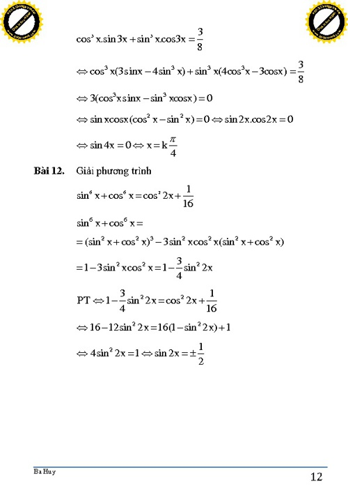 CĐ7. Phương trình lượng giác (phần 2) p2