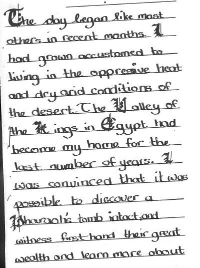 Howard Carter Diary Entry
