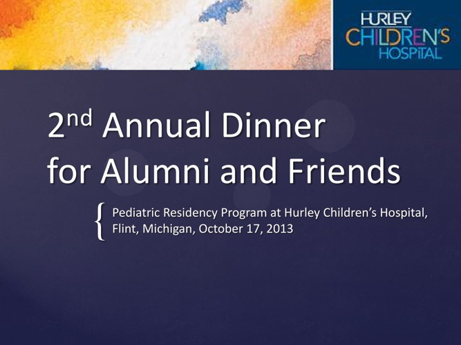 2013 Annual Pediatric Alumni Event