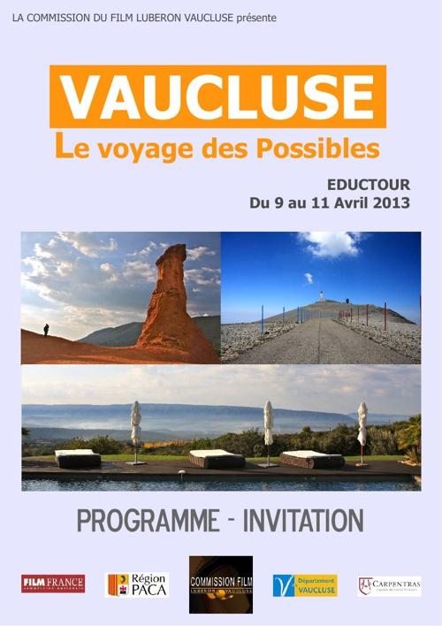 Invitation Eductour Vaucluse PACA 2013