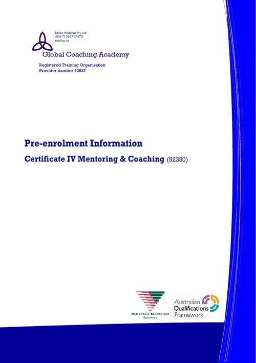 Certificate IV in Mentoring and Coaching (52350) Prospectus