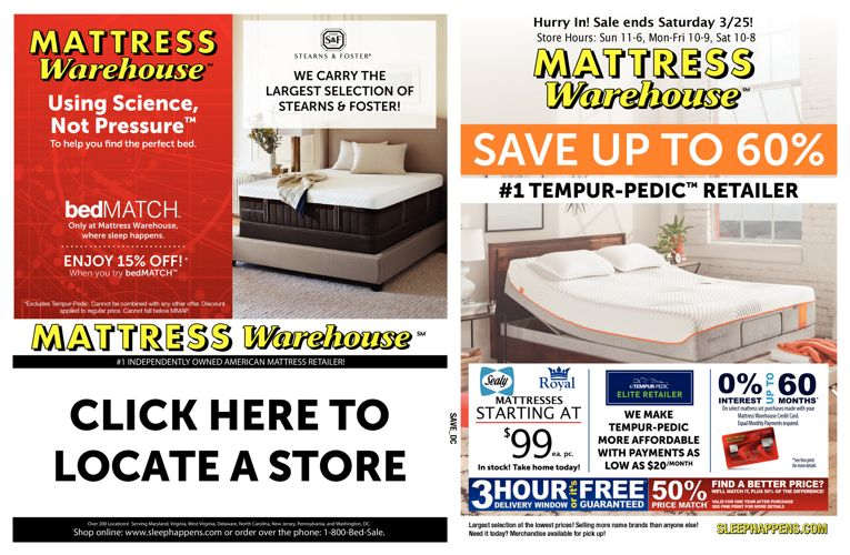 Mattress Warehouse Savings Sale
