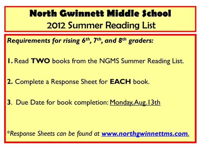 2012 Summer Reading