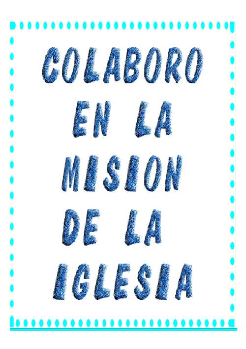 tema 5 de religion : colaboro con la misión de la iglesia.