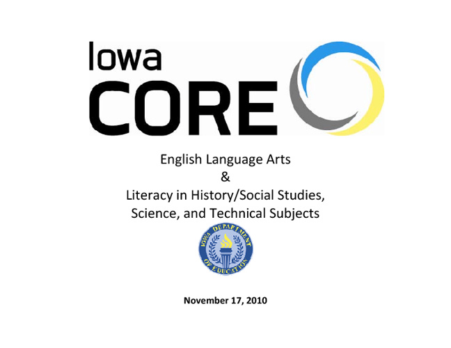 Iowa Core Literacy