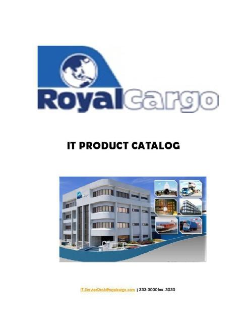 IT Product Catalog