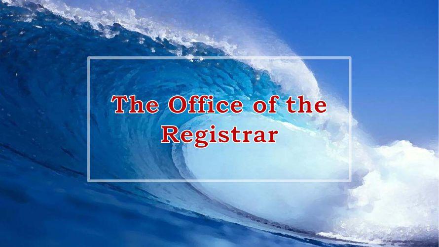 2015 Registrar Transfer Orientation