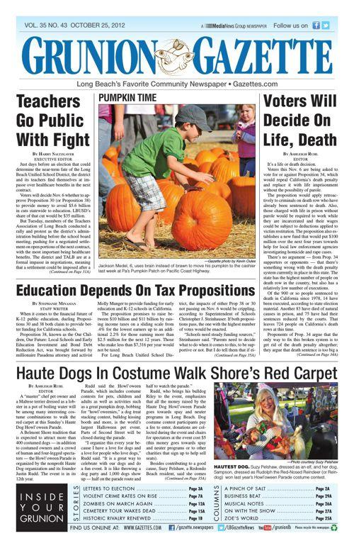 Grunion Gazette | October 25, 2012