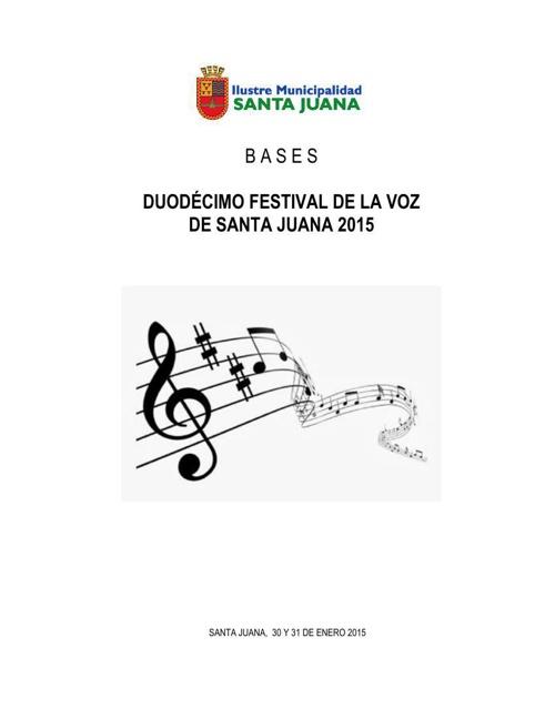 Bases XII Festival de la Voz de Santa Juana
