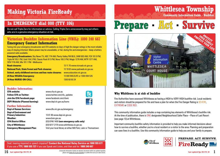 Whittlesea Townships Plan - CFA