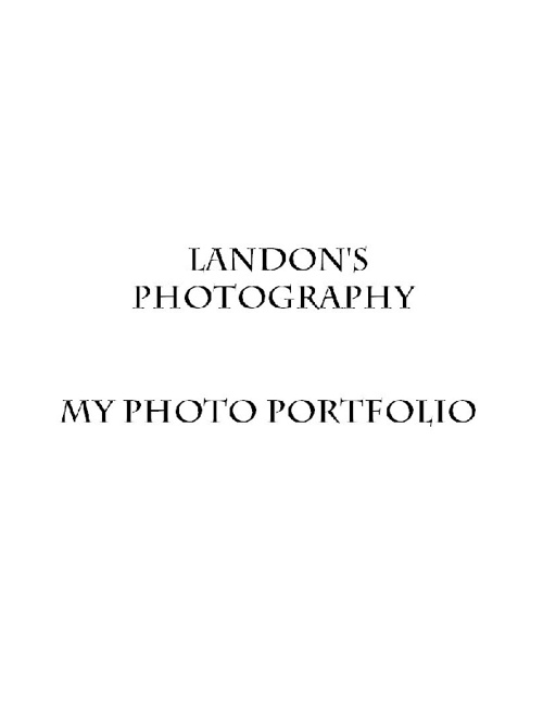 My Photo Portfolio