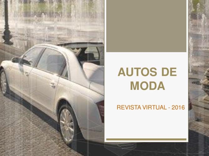 AUTOS DE  MODA