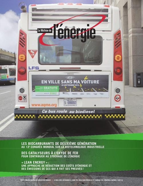 Revue La maîtrise de l'énergie  - Vol. 28 no 3