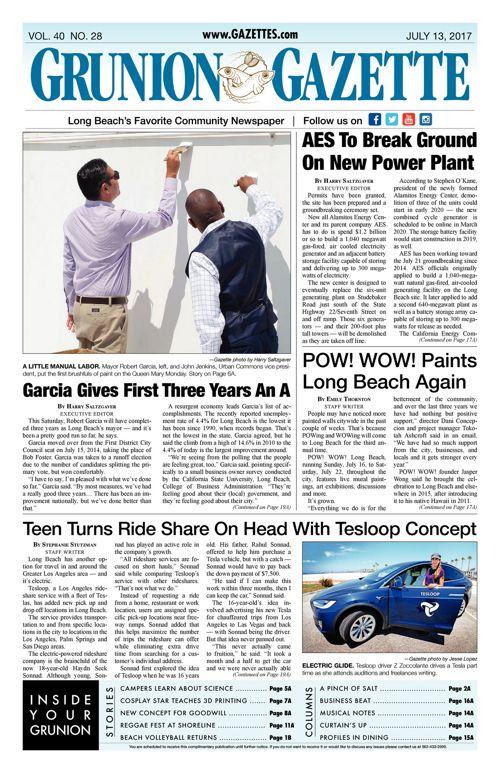 Grunion Gazette     July 13, 2017