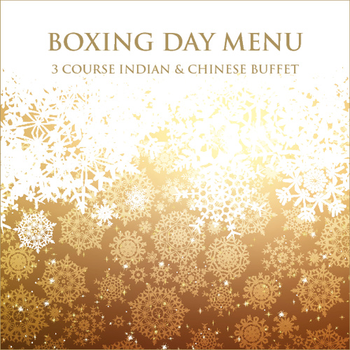 Boxing Day Eastern Fusion Menu