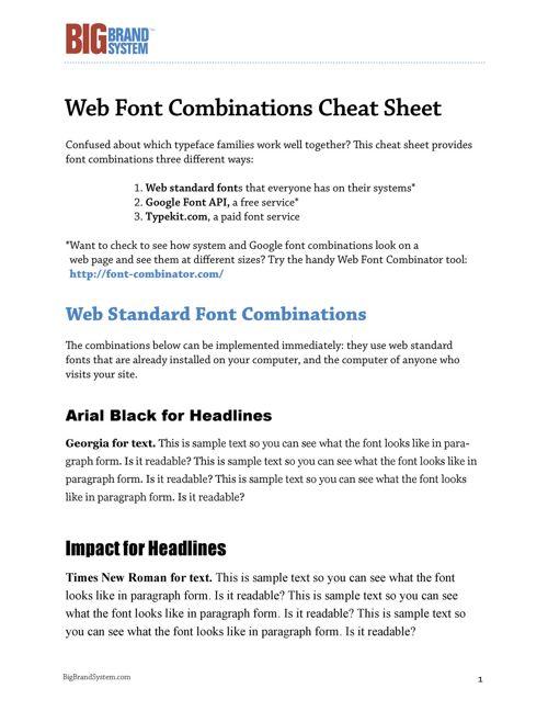 BBS-Web-Font-Combinations