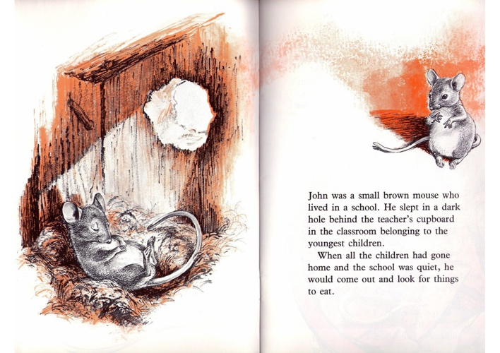John, the mouse who learned to read