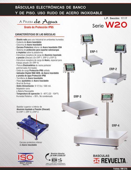 RM 275 BÁSCULAS ELECTRÓNICAS DE BANCO Y PISO SERIE W20