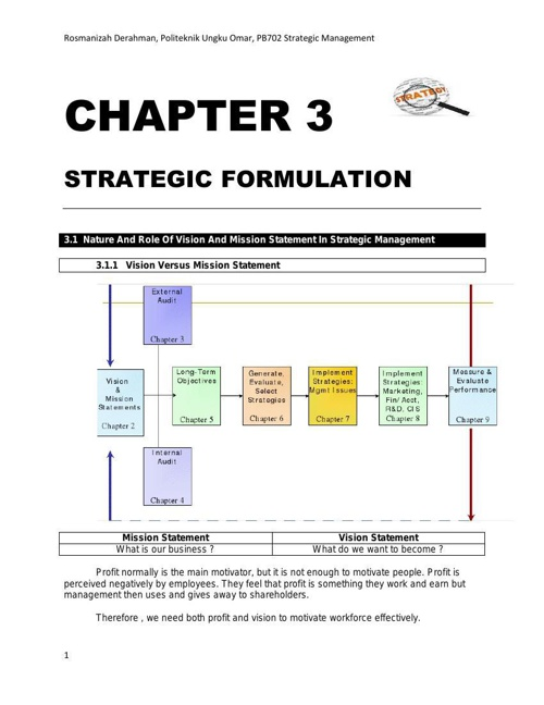 PB702 - CHAPTER 3: STRATEGIC FORMULATION