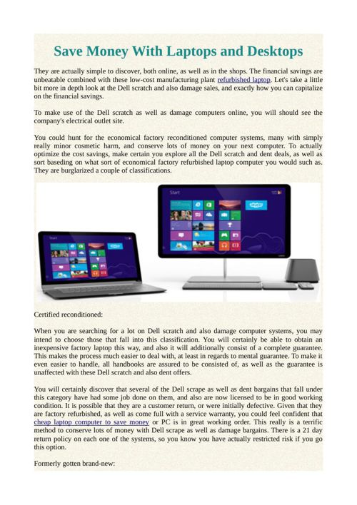 Save Money With Laptops and Desktops