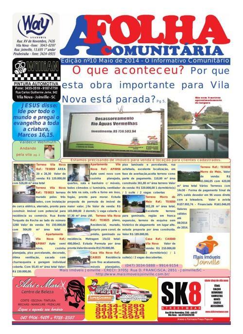 A FOLHA COMUNITÁRIA mês 05 de 2014