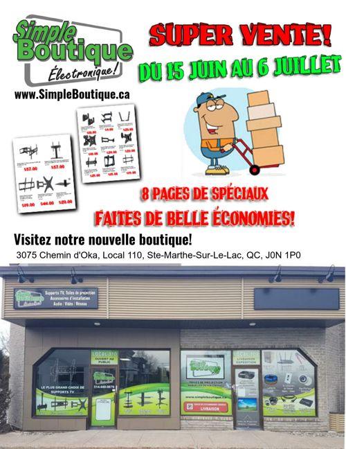 SimpleBoutique.ca - Circulaire Super Vente 15 Juin au 6 Juil