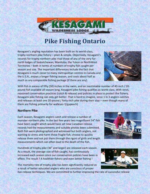 Pike Fishing Ontario