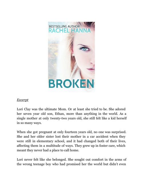 Excerpt:  Broken by Rachel Hanna