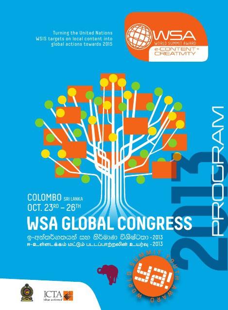 WSA Global Congress Agenda 2013