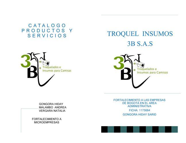 TROQUEL INSUMOS 3B S.A.S   CATALOGO COMPLETO