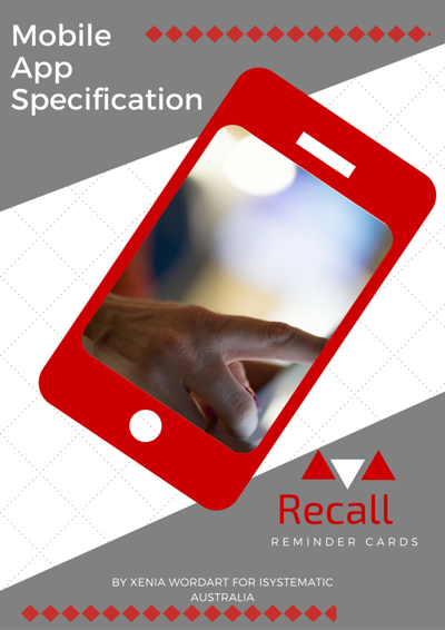 Mobile App Specification (technical writing)