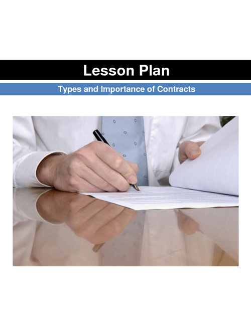 Lesson Plan-Contract Law