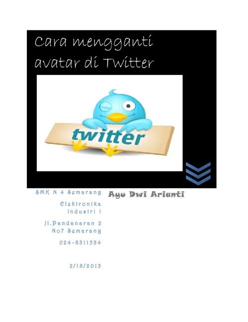 Cara Mengganti Avatar di Twitter